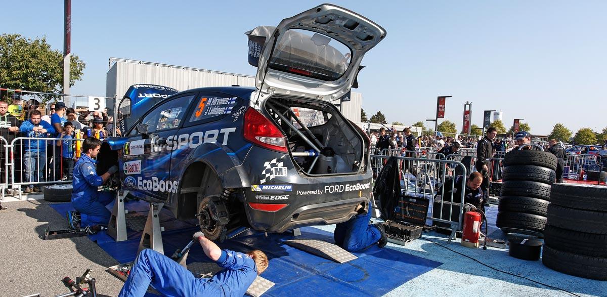 Mikko Hirvonen, Rallye de Francia 2014.