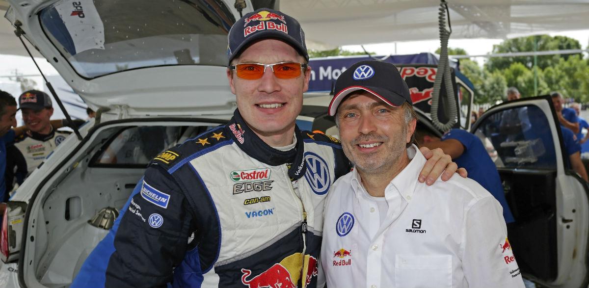 Jari-Matti Latvala y Jost Capito, Rallye de México 2015.
