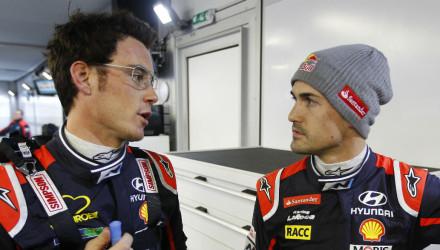 Thierry Neuville y Dani Sordo, Rallye Montecarlo 2015.