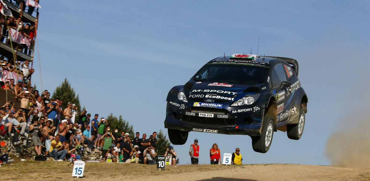 Elfyn Evans, Rallye de Cerdeña 2014.