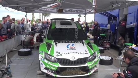 Vídeo, tests previos al Ypres Rally
