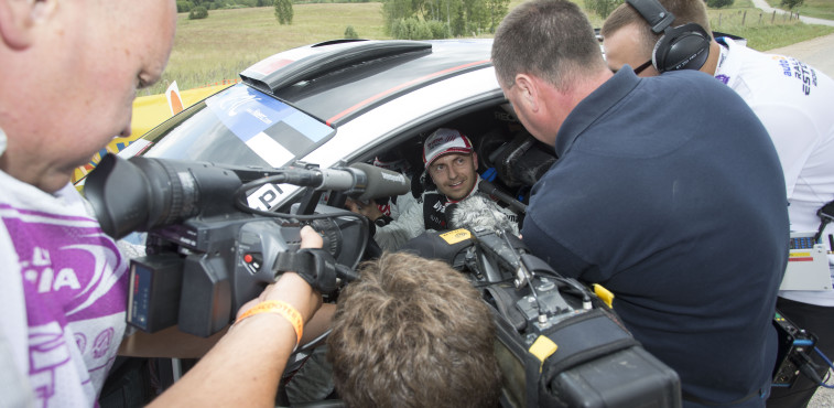 KAJETANOWICZ Kajetan Ford Fiesta R5 ambiance during the 2015 European Rally Championship ERC Estonia Rally, from July 17th to 20th 2015 at Tallinn, Estonia. Photo Gregory Lenormand / DPPI