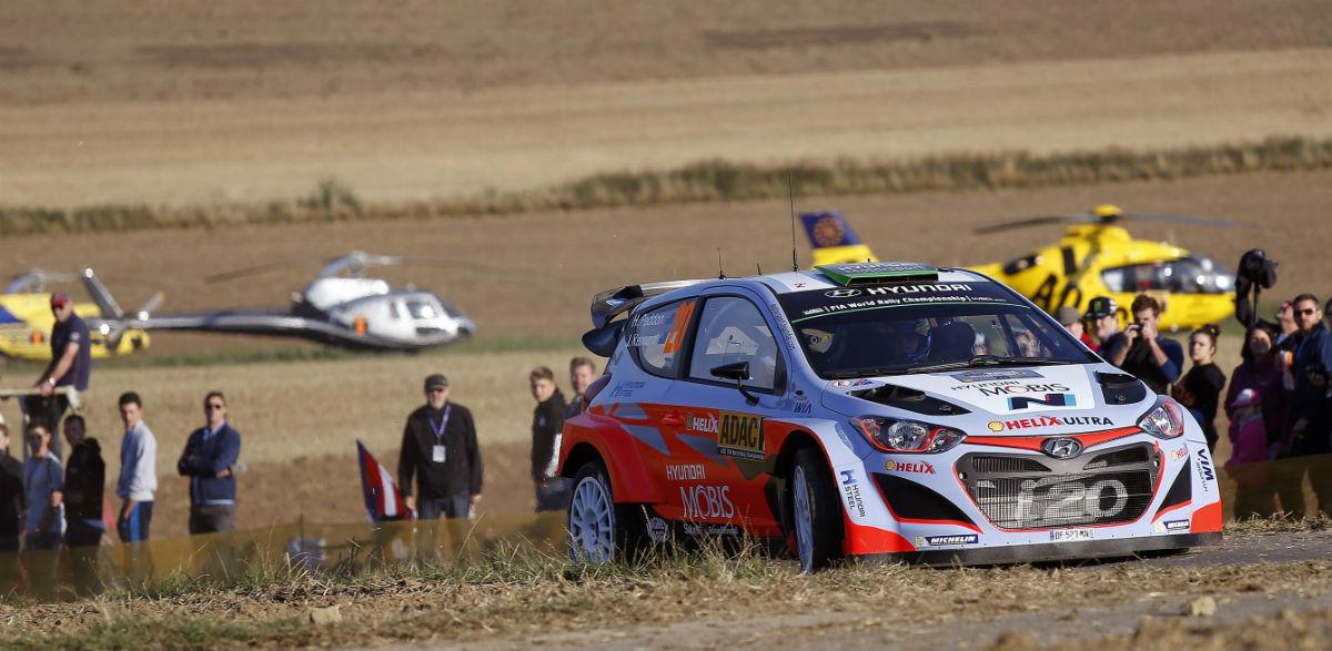 Hayden Paddon, Rallye de Alemania 2015.