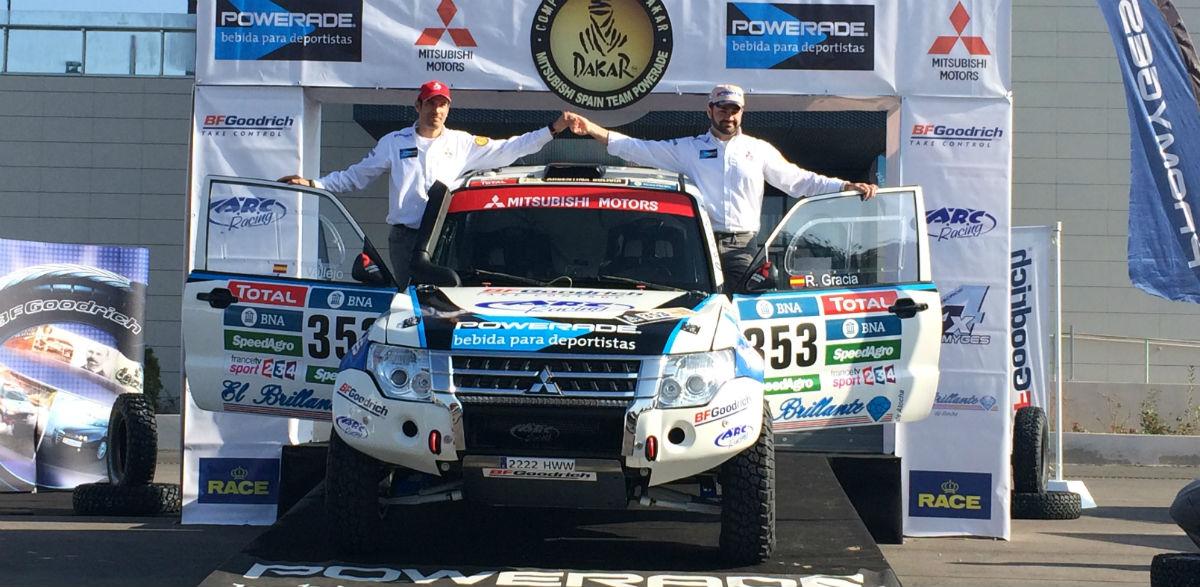 Diego Vallejo y Rubén Gracia, ante el Dakar 2016.