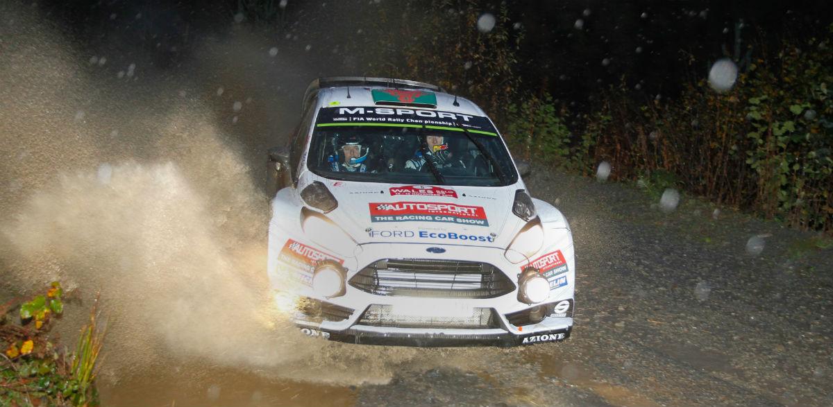 Elfyn Evans, Rallye de Gales 2015.