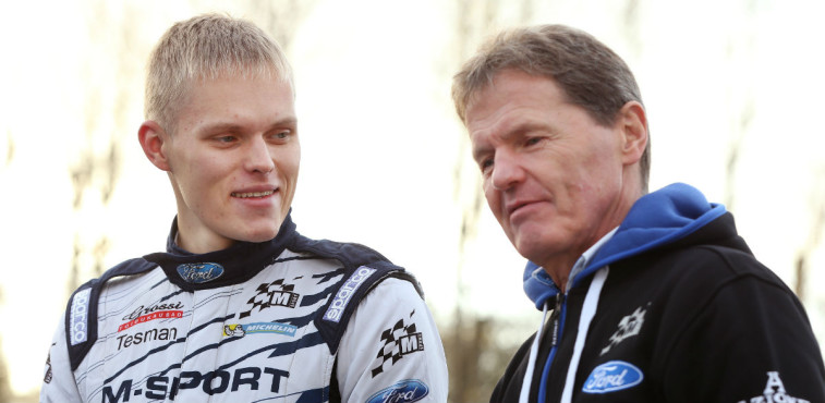 Ott Tanak y Malcolm Wilson, Rallye de Gales 2015.