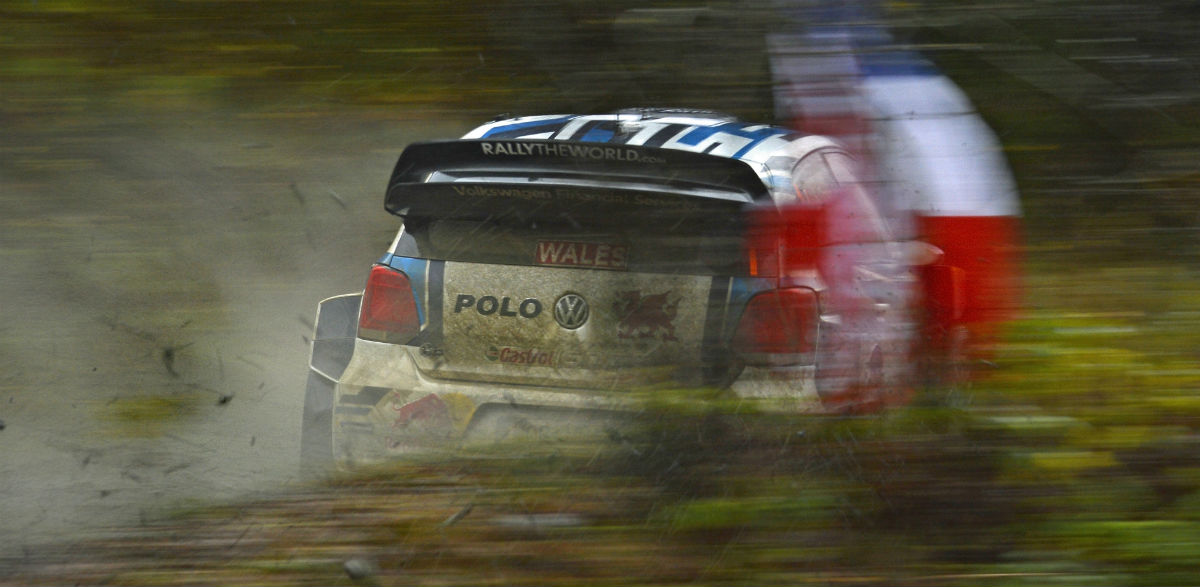 Sebastien Ogier, Rallye de Gales 2015.