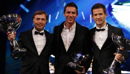Ogier, Ingrasia y Capito, gala de la FIA 2015.