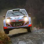 Tramos nocturnos en el Rallye de Gales