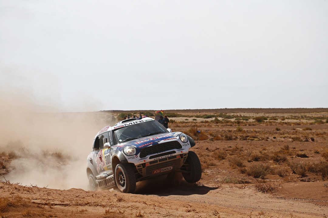 300 AL-ATTIYAH Nasser (qat) BAUMEL Matthieu (fra) MINI action during the Dakar 2016 Argentina,  Bolivia, Etape 6 - Stage 6, Uyuni - Uyuni,  from  January 8, 2016 - Photo Frederic Le Floc'h / DPPI