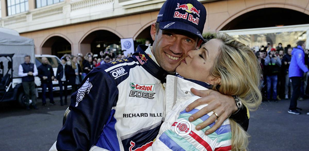 Sebastien Ogier y Andrea, Rallye Montecarlo 2016.