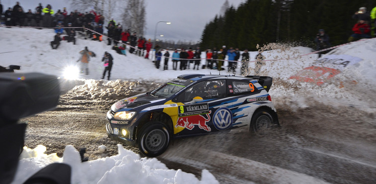 Andreas Mikkelsen (NOR), Ola Fløene (NOR) Volkswagen Polo R WRC (2015) Rally Sweden 2015