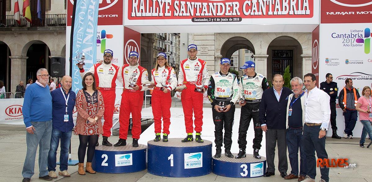 Podium 37 Rallye Santander Cantabria