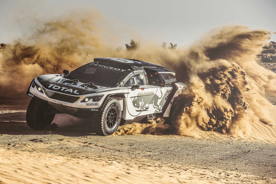 Stephane Peterhansel from Team Peugeot Total performs during a test run with the new Peugeot 3008 DKR  in Erfoud, Morocco on September 17, 2016 // Flavien Duhamel/Red Bull Content Pool // P-20160929-00399 // Usage for editorial use only // Please go to www.redbullcontentpool.com for further information. //
