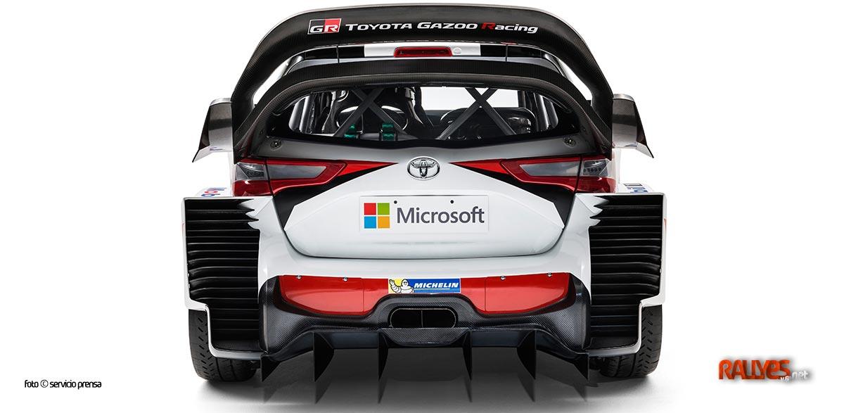 Trasera Toyota Yaris WRC