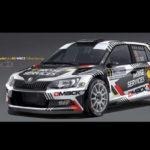 Quentin Gilbert, con un Skoda en WRC2