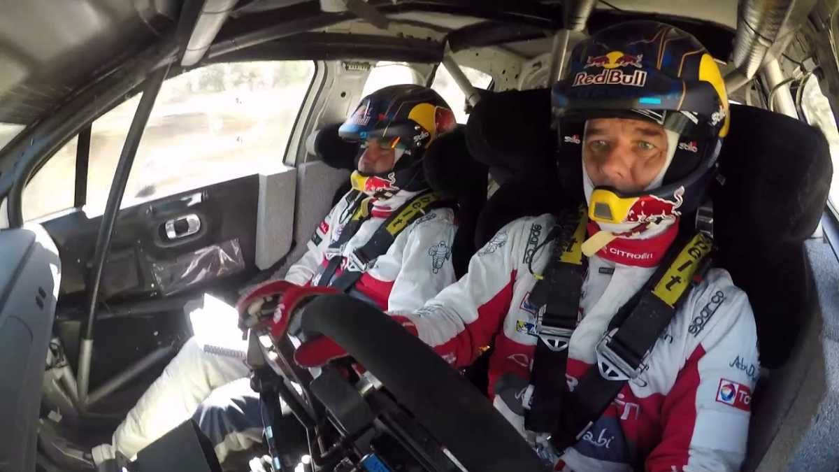 Vídeo, tests de Loeb con el C3 WRC en tierra