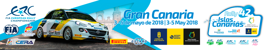 Lista de inscritos oficial del Rallye Islas Canarias