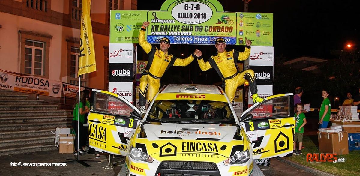 Alberto Meira vuelve a lo más alto en el Rallye Sur do Condado