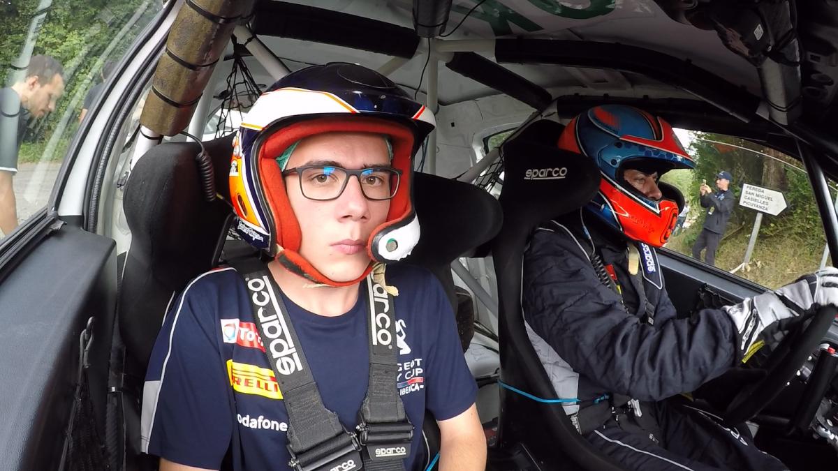 De copiloto con Sergio Vallejo, gracias a Peugeot España