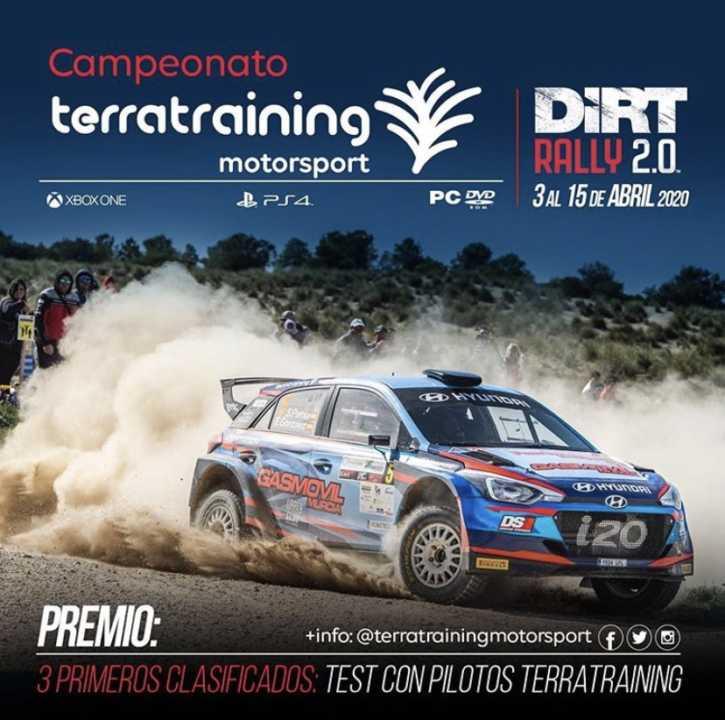 Terra Training Virtual Dirt Rally: El premio, un copilotaje en unos test
