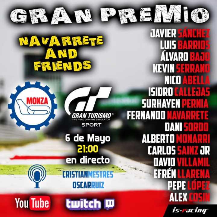 Noche de carreras con Navarrete&Friends en el circuito de Monza