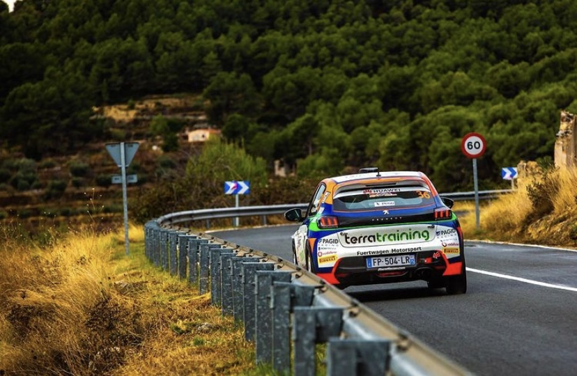 José María Reyes y Alberto Monarri en la Peugeot Rally Cup Ibérica 2021