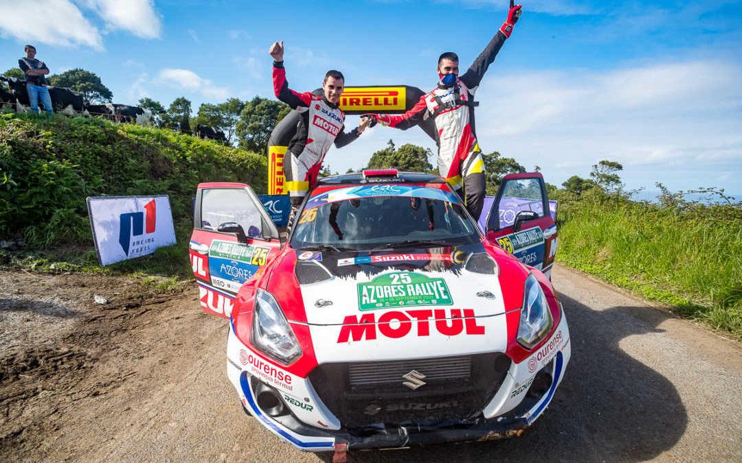 Javier Pardo, líder del ERC2 tras el 55 Azores Rallye